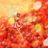 Valentine background with fairy Royalty Free Stock Photo