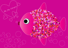 Valentine background with fish in love Stock Photo