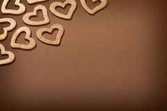 Valentine background - golden hearts Stock Photography