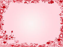 Valentine Background - hartenkader Royalty-vrije Stock Afbeelding