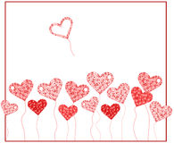 Valentine background with heart Stock Photography