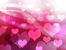 Valentine background with heart Stock Image