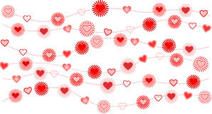 Valentine background with heart. Vector illustration of valentine background with heart Royalty Free Stock Photos
