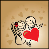 Valentine background with heart Royalty Free Stock Photography