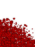 Valentine background from heart confetti. EPS 8 royalty free illustration