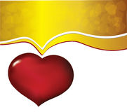 Valentine background with heart. Gold white Valentine background with heart Stock Photography
