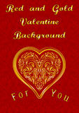 Valentine Background with Heart Stock Images