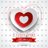 Valentine background with heart and message Royalty Free Stock Photography