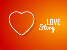 Valentine Background with Heart shape. Love story. Happy Valentine Day Holiday background Stock Image