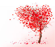 Valentine background with heart shaped tree. Stock Photography