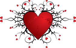 Valentine background, heart, vector Royalty Free Stock Image