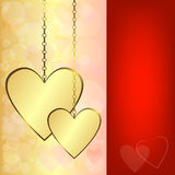 Valentine background with hearts. Valentine background with gold hearts (EPS 10 vector illustration