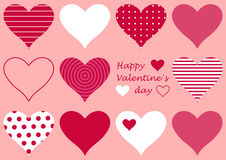 Valentine background with hearts Royalty Free Stock Photos