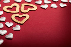 Valentine background - hearts Stock Photography