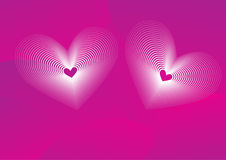 Valentine background with hearts Stock Photography