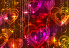 Valentine background with hearts. Pink and red Valentine background with hearts Stock Image