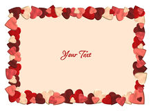 Valentine background with hearts Royalty Free Stock Photography