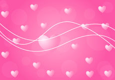Valentine background with hearts Stock Images