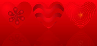 Valentine background with hearts Royalty Free Stock Photo