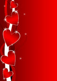 Valentine background with hearts Stock Photos