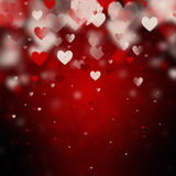 Valentine background with hearts Stock Photo