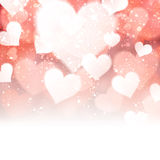 Valentine background with hearts. Stock Image