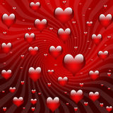 Valentine background hearts Stock Images