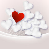 Valentine background with hearts. EPS 10 Royalty Free Stock Photo