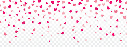 Valentine background with hearts falling on transparent. Vector valentine background with hearts falling on transparent royalty free illustration