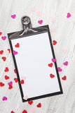 Valentine Background with hearts and flowers Royalty Free Stock Photos