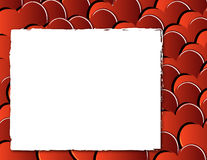 Valentine background with hearts and frame Stock Photo