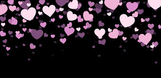 Valentine background with hearts. Valentine background with lilac hearts. Vector paper illustration Stock Images