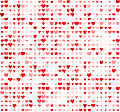 Valentine background with hearts Stock Image