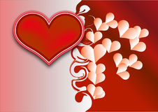 Valentine background with hearts Royalty Free Stock Image