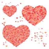 Valentine background with hearts, repetitive pattern Royalty Free Stock Images