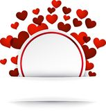 Valentine background with hearts. Romantic valentine background with hearts. Vector illustration royalty free illustration
