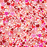 Valentine background, hearts seamless pattern. Stock Images