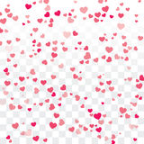 Valentine background with hearts on transparent. Vector valentine background with hearts on transparent Royalty Free Stock Image