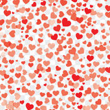 Valentine background with hearts on transparent. Vector valentine background with hearts on transparent stock illustration