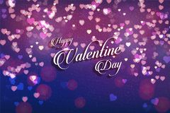 Valentine background with hearts. Vector stock illustration