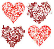 Valentine background, hearts, vector Stock Photos