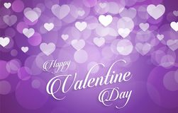 Valentine background with hearts. Vector royalty free illustration