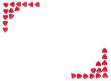 Valentine Background hizo con los corazones rojos Imágenes de archivo libres de regalías