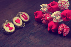 Valentine background, I love you message Stock Photography