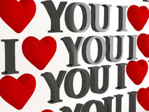 Valentine background labeled Stock Image