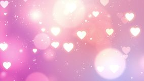Valentine background, looped. Colorful Heart Falling Valentine background, looped stock video footage