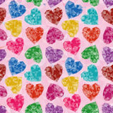 Valentine Background Low Poly Stockfoto