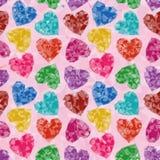 Valentine Background Low Poly Arkivfoto