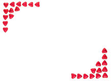 Valentine Background made with red hearts Royalty Free Stock Images