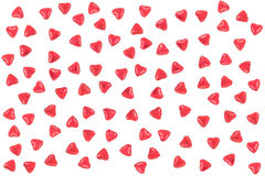 Valentine Background made with red hearts Royalty Free Stock Image